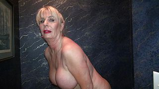 Exclusive scenes with a blonde mature peeing