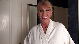 Gorgeous mature is ready to take down her clothes
