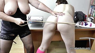 Mature female Doctor helps younger female
