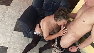 nice hairy granny gets fucked by young son 1080