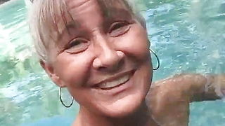 Pervert Granny Leilani in The Pool